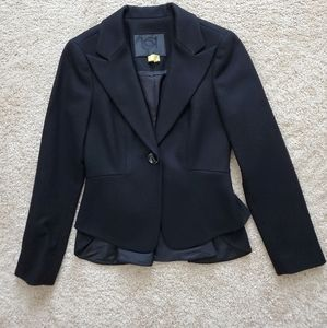 Black Peplum BEBE Blazer Jacket Sz 4